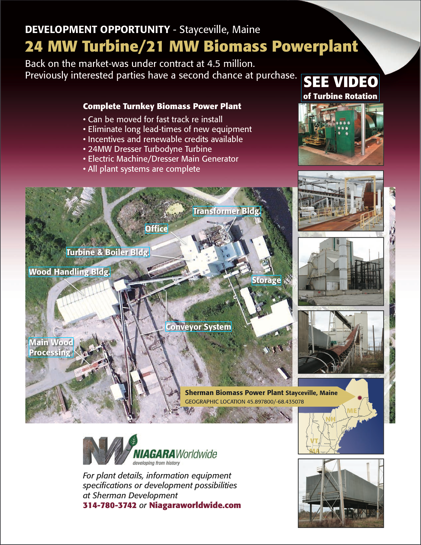 owner of mw biomass power plant in sherman maine turn down image